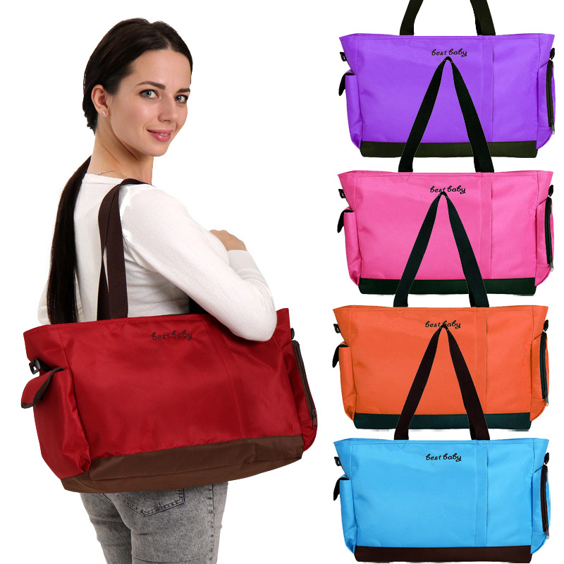 Diaper Bag Waterproof Oxford Stroller Bag Expectant Mother Simple & Elegant Mummy Shoulder Handbag Nappy Bags Baby Care Products