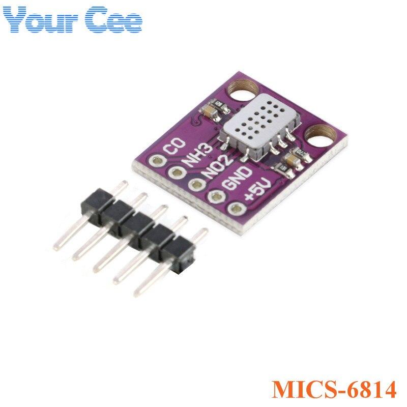 MICS-6814 Qualidade do Ar CO NO2 NH3 Nitrogênio de Carbono Módulo Sensor de Gás Para Arduino
