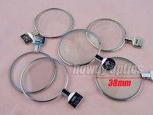 Lentes oftalmáticas 5 peças, ópticas, lentes de ensaio, conjunto de lentes de ensaio, aro de metal, dia 38mm