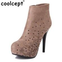women high heel half short ankle boots winter martin snow botas fashion footwear warm heels boot shoes P2911 size 33-40
