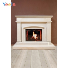 Yeele Professional Photography Backdrops White Fireplace Interior Wood Floor Portrait Photographic Backgrounds For Photo Studio