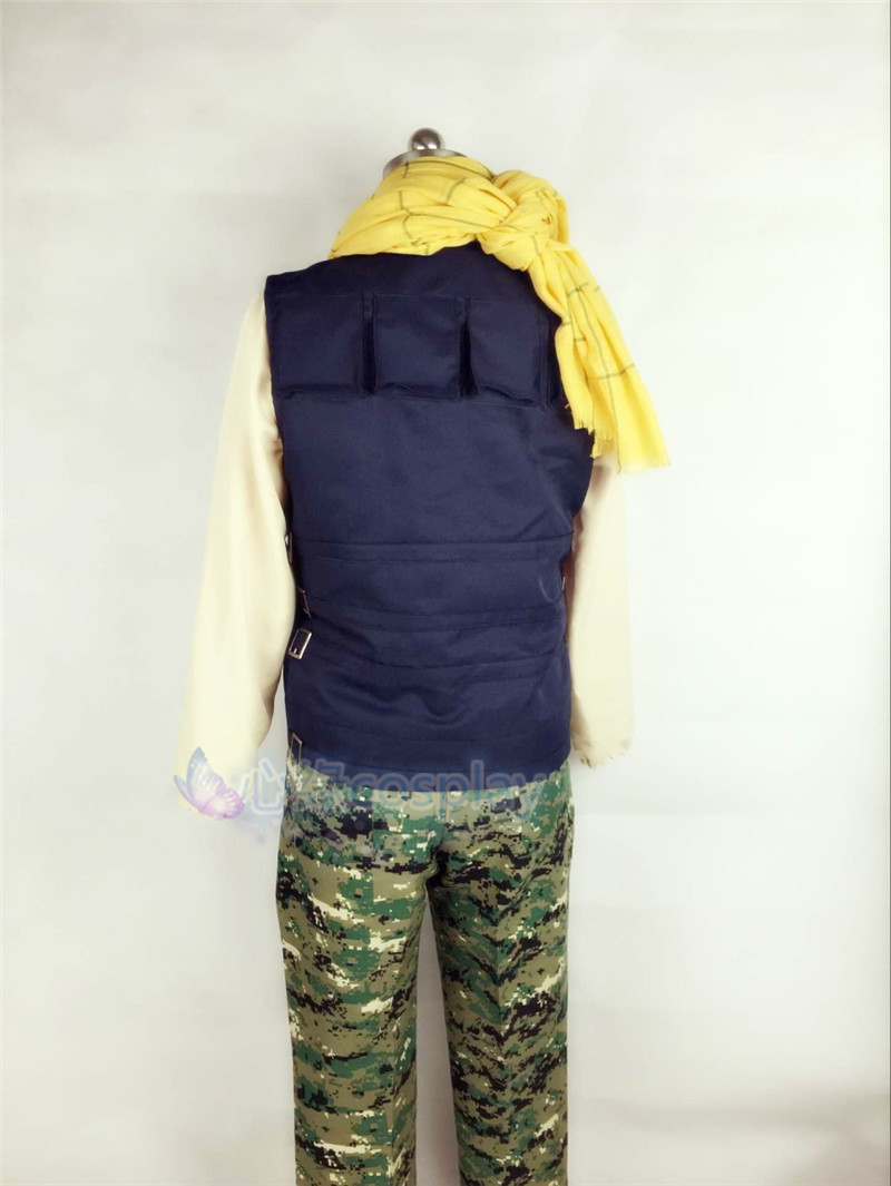 Anime Aoharu Machinegun Yukimura Tooru Cosplay Costume Army Uniform Scarf