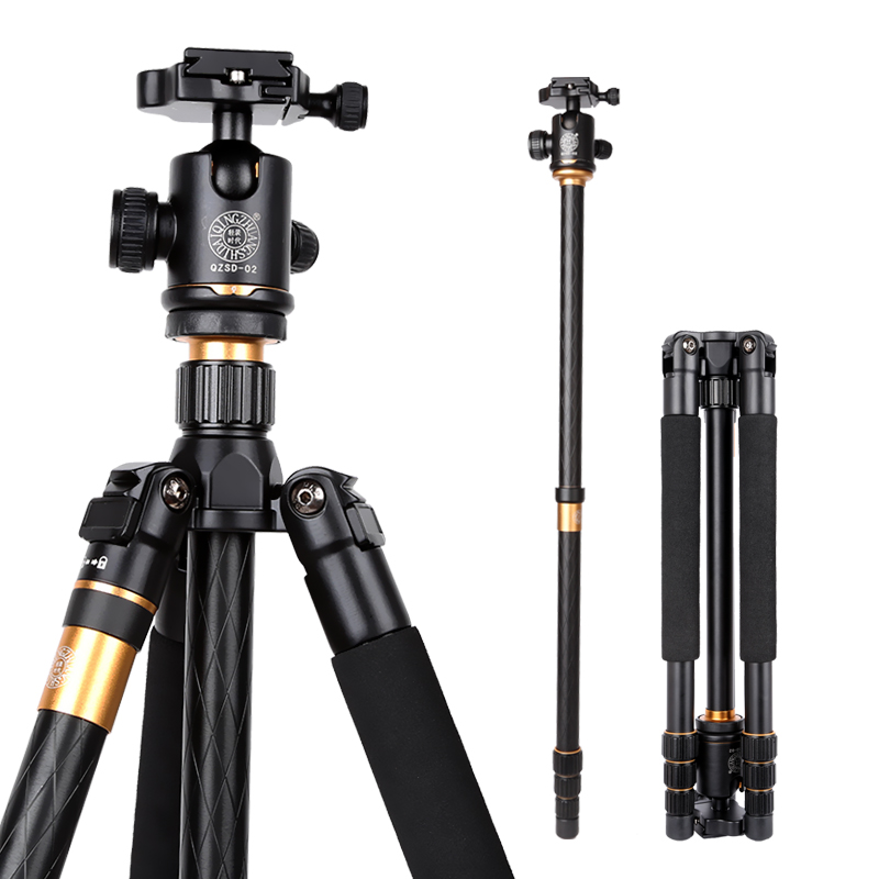 QZSD Q999 Professional Camera Tripod ,Photographic Portable Tripod and Monopod+Ball Head For Digital SLR DSLR Camera