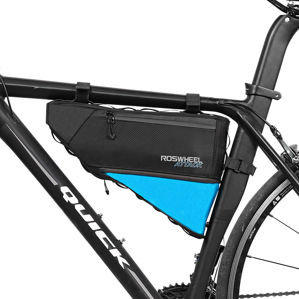 4L Bike Triangular Bag Bicycle Front Tube Pack Sport Cycling Reflective Bag