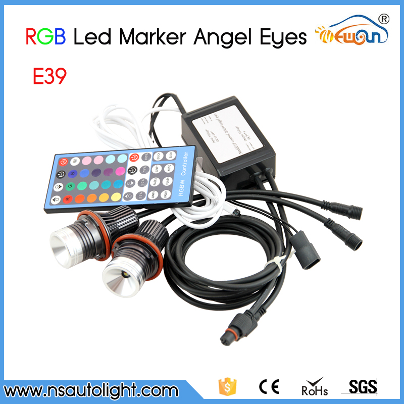 Free Shipping!!! RGB Color Change Cree Chips LED Angel Eyes LED Marker For BMW E39/E87/E63/E64/E53/E65/E66/E60/E61 1 pair free shipping high power cree angel eyes led maker lamp fit for bmw e39 e53 e60 e61 e63 e64 e66