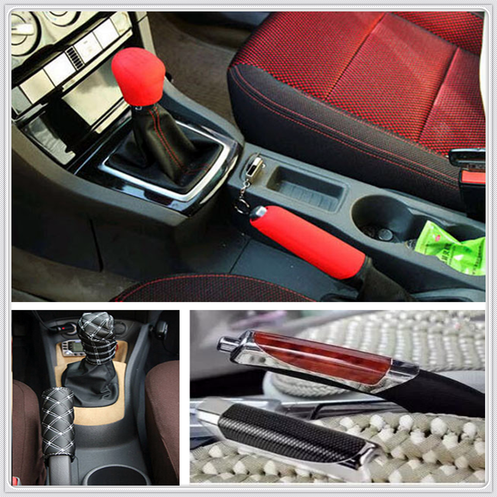 Car Suv Rubber Gear Shift Knob Handbrake Cover For Mercedes Benz S550 S500 IAA G500 ML F125 E550 E350 W205 W201 B200 B150