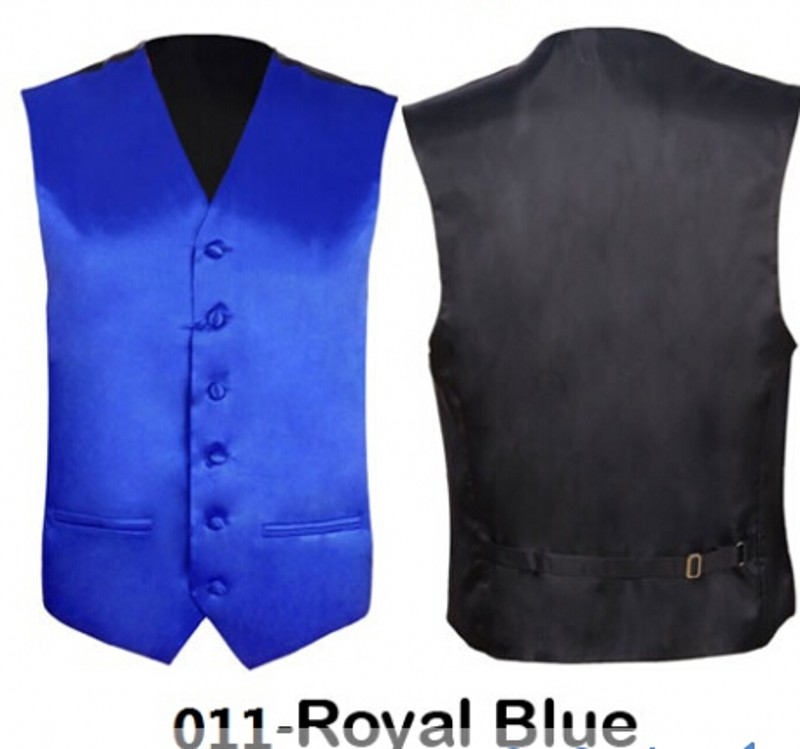 New Royal Blue Mens Slim Fit Coletes Homem Vest Wedding Groomsmen Formal Waistcoat Groom Solid Color For Wedding Party