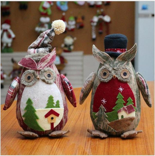 2018 navidad christmas holiday figurines owl christmas decorations for home new year decorations christmas gift