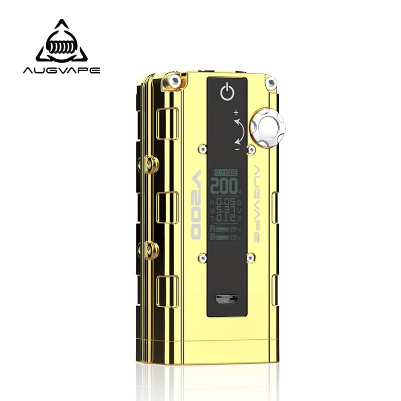 Augvape V200 200 w elektronische zigarette mod Auto Bypass V modus led-anzeige 510 stecker mod box