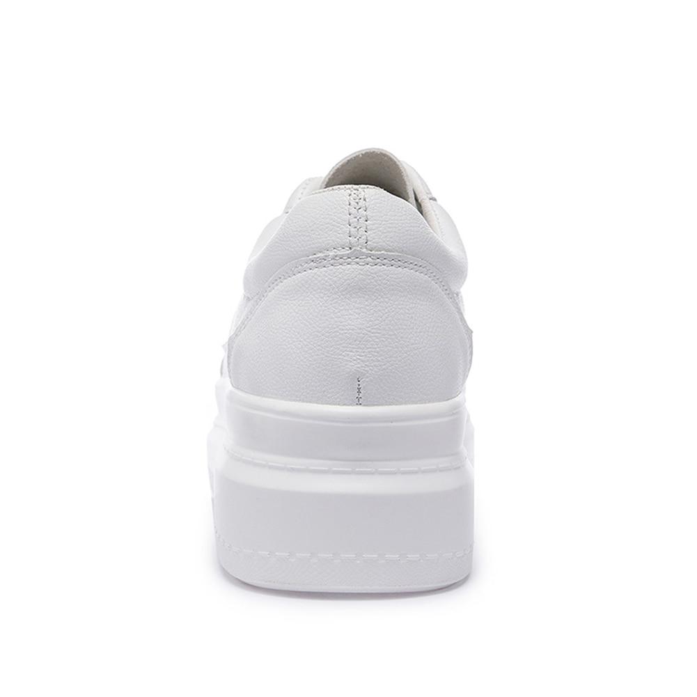 Lacets 2019 Femme Femmes À Confortable En Appartements forme Cuir Sneakers Plate Printemps Blanc Casual Split Plat Doratasia Chaussures Nouveau gnaPdPq