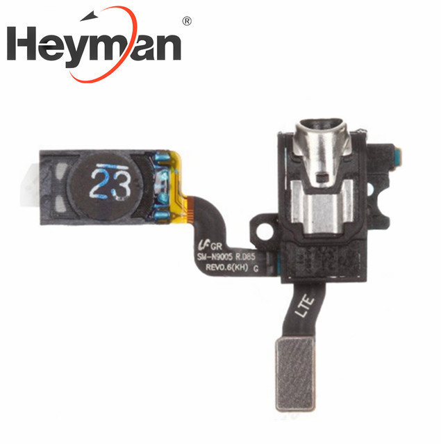 Heyman Flex Cable Earphone Jack With Ear Speaker Ribbon Replacemen For Samsung Galaxy Note 3 N9006/n900/n9005,n900p/a/t/v/r4