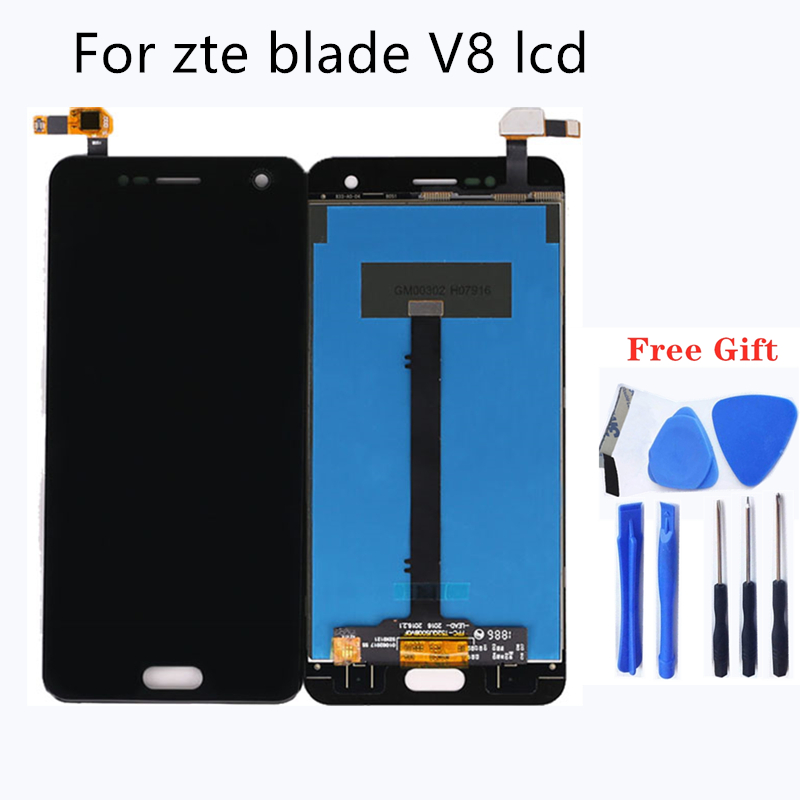 Original black Display For ZTE Blade V8 LCD +Touch Screen Digitizer Assembly For ZTE Blade V 8 BV0800 Display Phone Repair-in Mobile Phone LCD Screens from Cellphones & Telecommunications