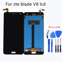 Original black Display For ZTE Blade V8 LCD +Touch Screen Digitizer Assembly For ZTE Blade V 8 BV0800 Display Phone Repair for zte blade a520 lcd display touch screen mobile phone lcd display for zte blade a520 repair kit free too
