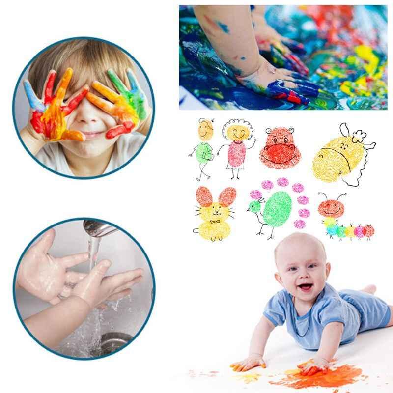 Tampon d'encre bébé empreinte de main peinture empreinte digitale enfants lavable mémoire Collection nouveau-né encreur