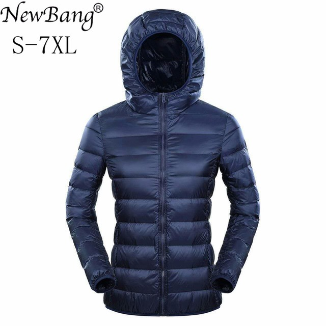 NewBang Brand Womens Down Jackets Ultra Light Down Jacket Women 5XL 6XL 7XL Plus Feather Winter Thin Warm Windbreaker Coats