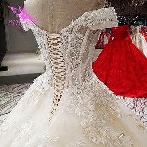 Image 4 - AIJINGYU свадебное платье, реальные образцы, цвета слоновой кости, Гуанчжоу, свадебные платья принцесс