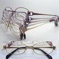 Оптовая 6511 дизайнер чистый титан полный обод леди легкие против аллергии овальные очки по рецепту кадр бесплатная доставка