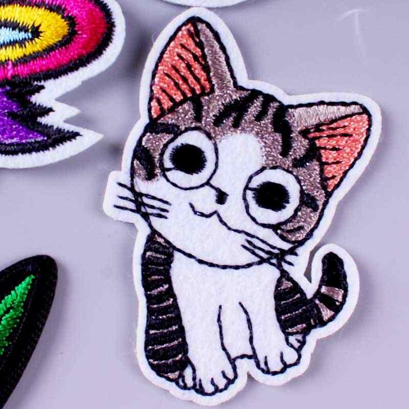 涅槃カエデの葉パッチ刺繍パッチ衣料用かわいい猫ユニコーン動物アイアンでパッチ服スイカステッカー