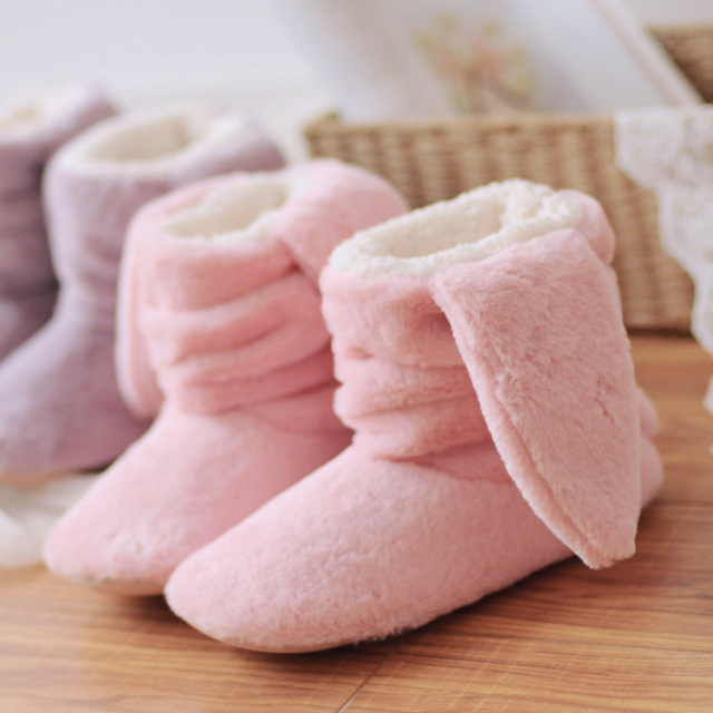 Мультфильм зима прекрасный кролик тапочки для женщин домашние тапочки плюшевые тапочки pantofole размер 36-39
