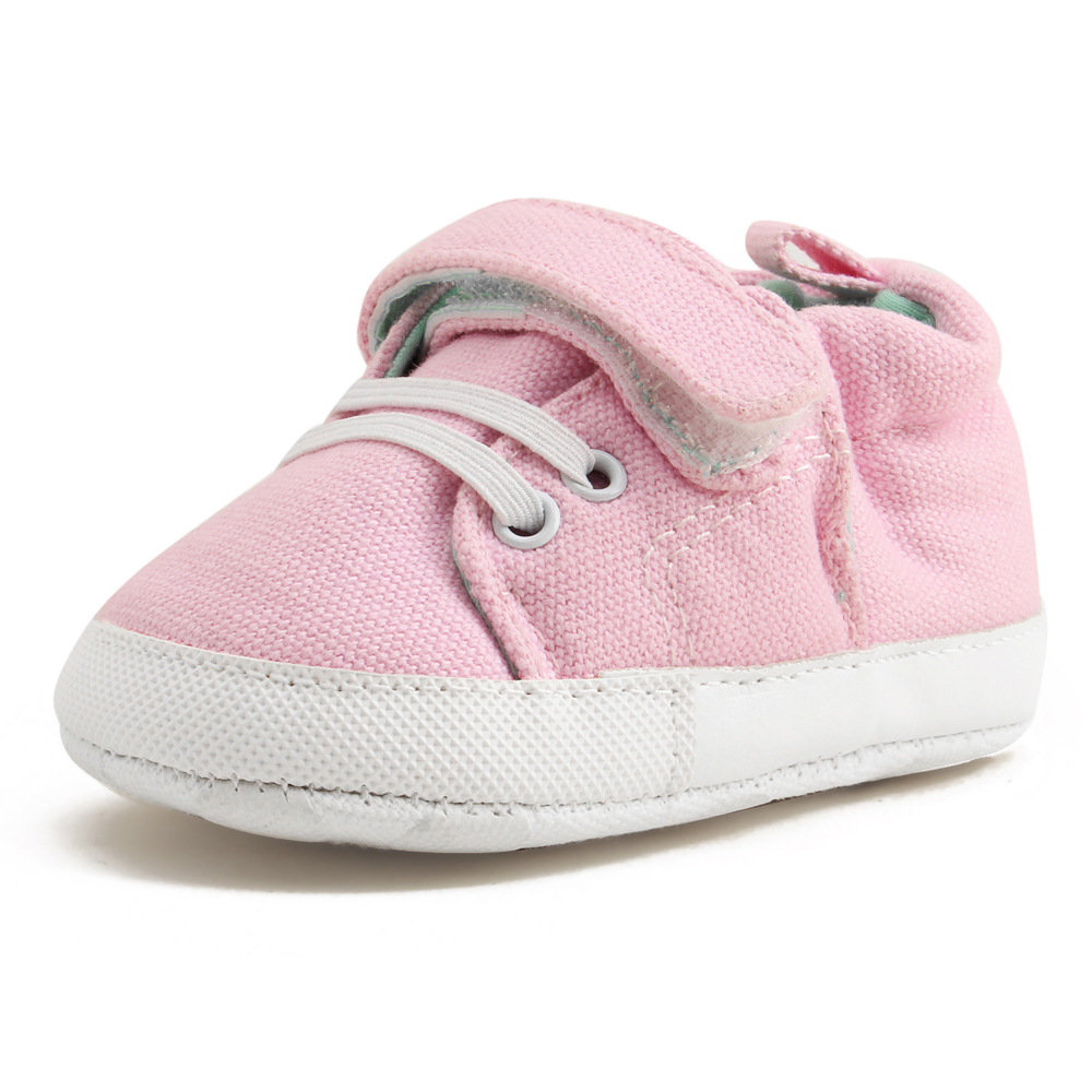 Купить с кэшбэком Delebao Pure Handmade Multi-color Baby Shoes Canvas Soft Sole Baby Girls Shoes For 0-24 Months Prewalker Toddler Infant Shoes