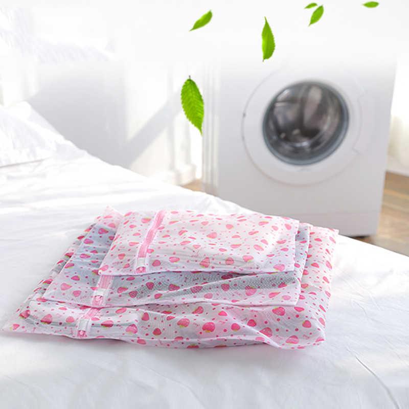 Mulheres Meias de Nylon Meias Lingerie Roupa Ajuda a Lavagem Sutiã Saco de Roupa de Malha Net Sacos Zip Meias Sutiã Saver 3 tamanhos