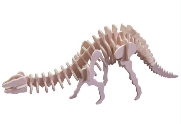 Dinosaur 3D Taxta Puzzle DIY Simulyasiya Model Uşaq Təhsil - Bulmacalar - Fotoqrafiya 2