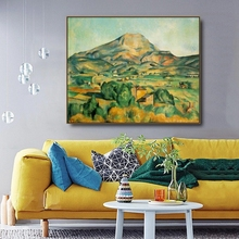 Barnes by Cezanne on Canvas Painting Calligraphy Poster Prints Living Room House Wall Art Home Decoration Picture