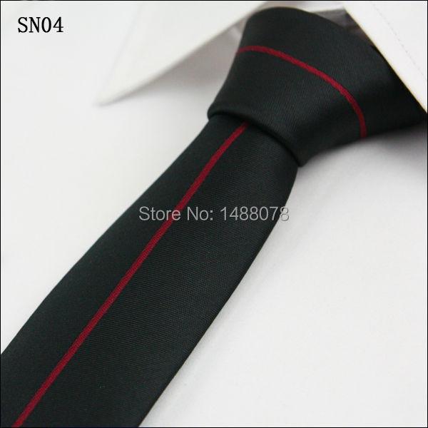 Red Striped Black Ties 2M8-3