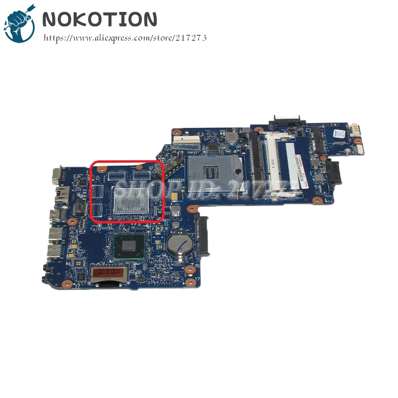 NOKOTION New H000051540 Laptop Motherboard For Toshiba Satellite C850 L850 MAIN BOARD HM76 UMA DDR3 nokotion genuine h000064160 main board for toshiba satellite nb15 nb15t laptop motherboard n2810 cpu ddr3