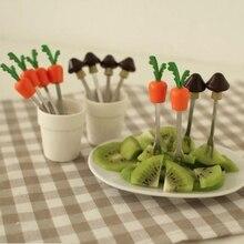 Мультфильм фрукты вилка набор вечерние торт салат овощи вилки шпажки; кухня инструменты 5 шт./компл