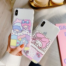 For iPhone XS Max XR X Twins Melody Cinnamoroll Pom Purin