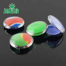 5pcs novelty wax wallet 6ml concentrate container food grade silicone jars for wax oil extract bho pocket storage jar no leakage