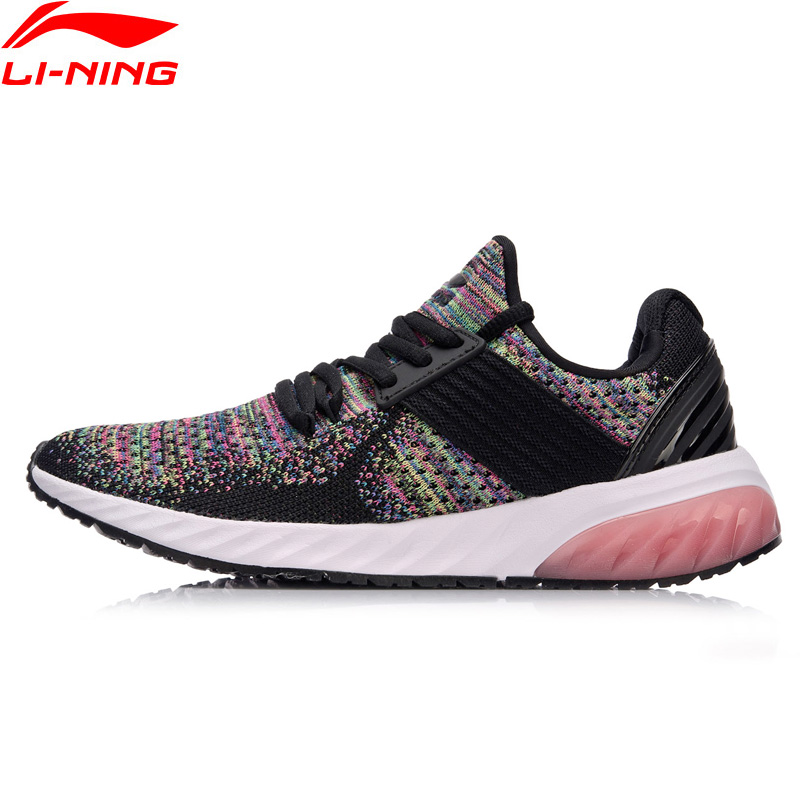 Li Ning Women GEL KNIT Classic Walking Shoes Wearable Anti Slippery Sneakers Mono Yarn LiNing Sports