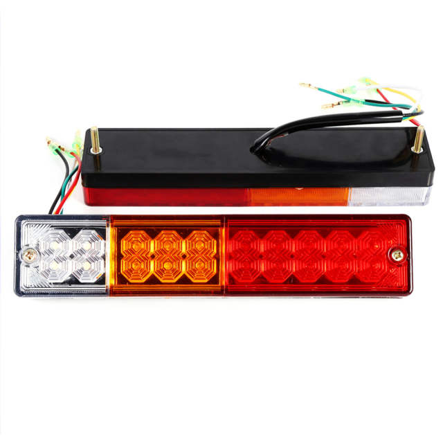 placeholder 2pcs 12v24v trailer lights led stop rear tail brake reverse lights turn indiactor atv