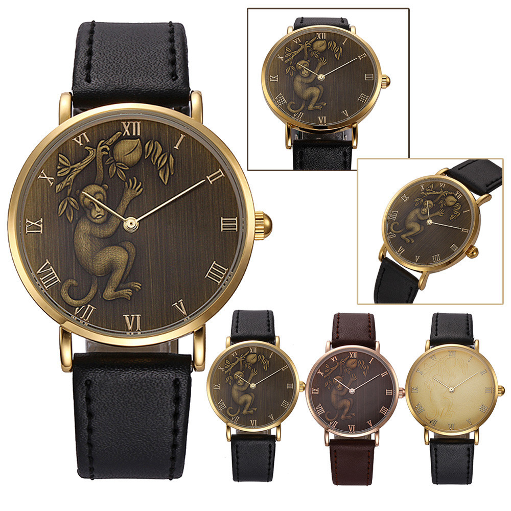 Men's Watches Watches Woman National Wind Weave Diy Little Monkey Bracelet Watch 3# Latest Fashion
