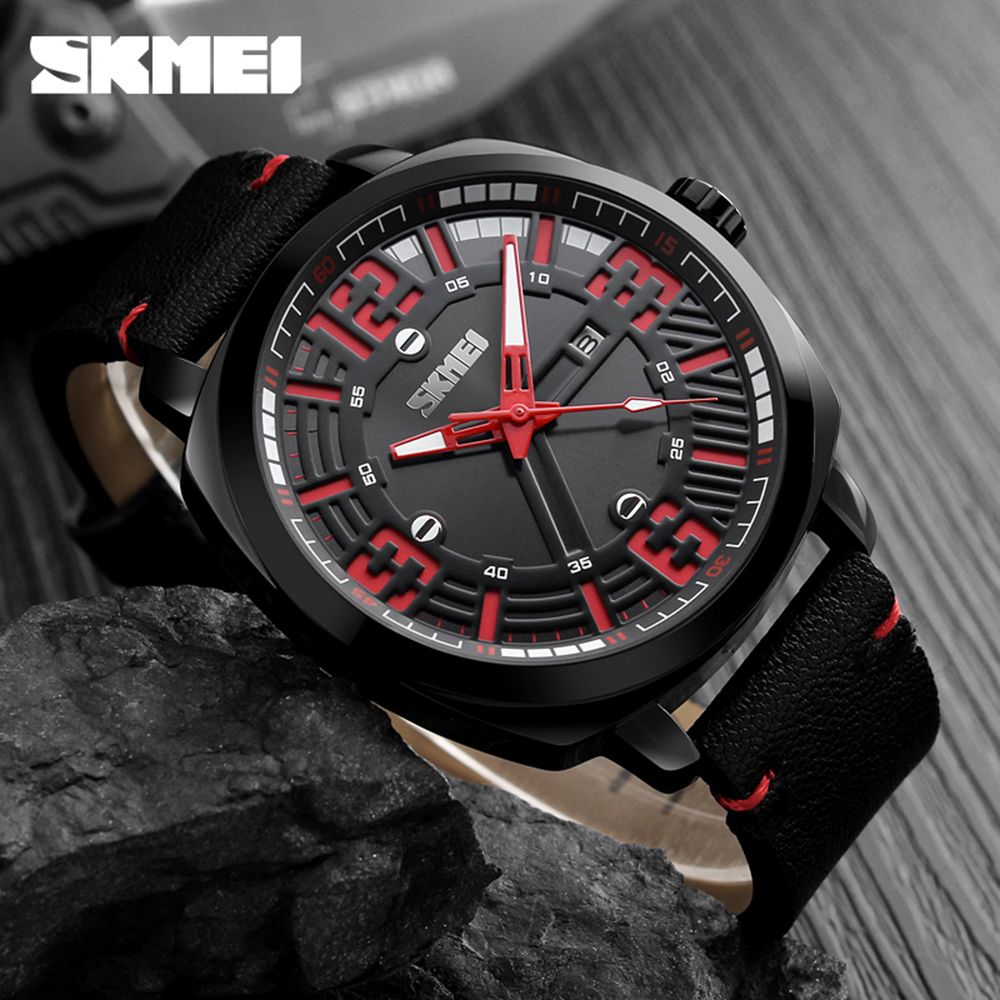 SKMEI Fashion Quartz Men Watches 3ATM Water resistant