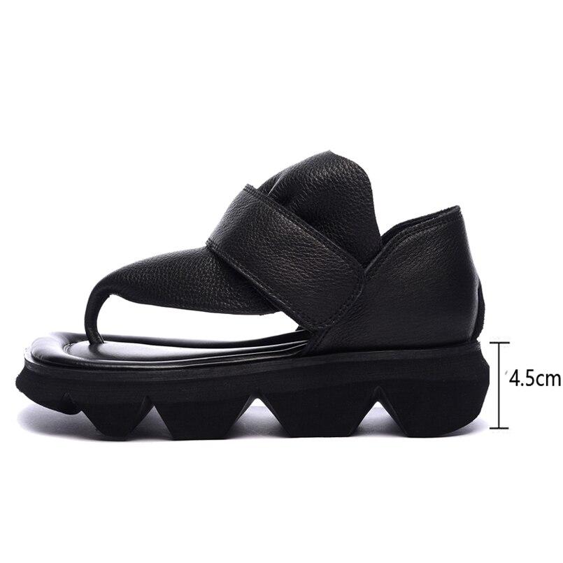 Sandales d'été tongs en cuir chaussures femmes sandales décontracté confortable clip toe femme sandales femmes chaussures de sport - 2