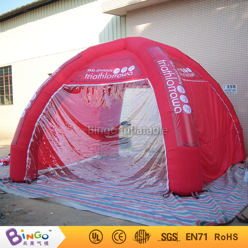 6M / 20ft Hot Selling Red Inflatable Air Dome Tent Inflatable Bar tent Camping Tent with 4 Legs N Free Blower outdoor toy tent