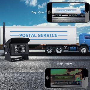 Image 5 - Автомобильная камера заднего вида Podofo, водонепроницаемая камера заднего вида с функцией ночного видения, 28 ИК, Wi Fi, для iPhone и Android