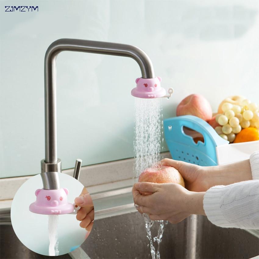 1PC Wholesale Splash Shower Bathroom Faucet Shower Head Nozzle Faucet Kitchen Tap Water Saving Device Cartoon Faucet Filter