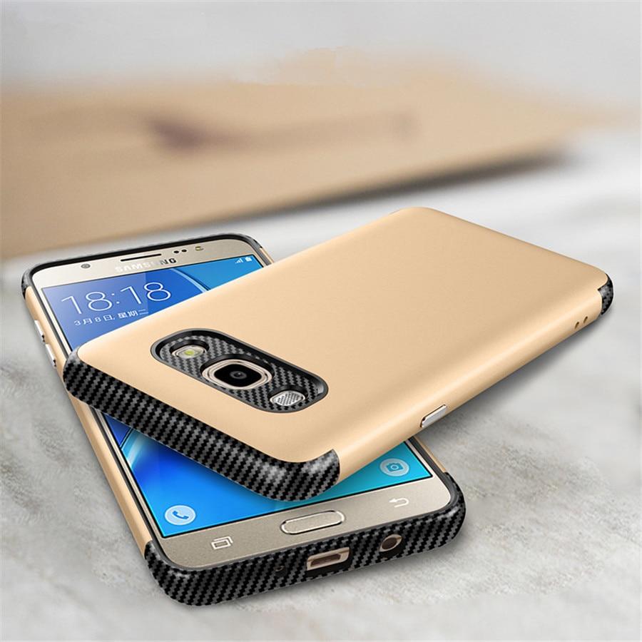 För Coque Samsung J5 2016 Fodral Lyxig hård PC + Silikonskydd 2in1 - Reservdelar och tillbehör för mobiltelefoner