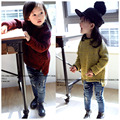 Мода Простой Девушки Свитера Дети пуловеры свитер Мальчики свитер девочки Осень и зима одежды Дети пальто