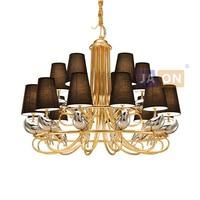 led e14 Postmodern Iron Copper Fabric LED Chandelier Chandelier Lighting LED Light LED Lamp For Foyer Dinning Room