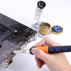Image 4 - A BF GT90E 90W Digital LCD Elektrische Lötkolben Kit Temperatur Einstellbar 220V Löten Eisen Tipps Löten Eisen Stehen