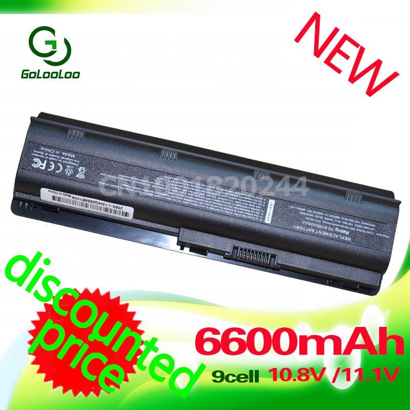 Golooloo 6600MaH 11.1v Battery for HP MU06 Pavilion DM4 DV3 DV5 DV6 DV7 G32 G42 G72 G62 G56 G6 CQ32 CQ42 CQ56 CQ62 593553 001