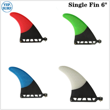 Surfboard Longboard Fins  6 Length Surf Fin Green/Blue/Red/White