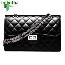 2017 black women shoulder bags female party crossbody chain bag plaid handbag quilted sac a main femme women leather handbags