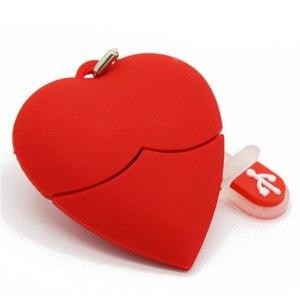 Image 5 - 텍스트 나 U 디스크 펜 드라이브 4 기가 바이트 8 기가 바이트 16 기가 바이트 32 기가 바이트 만화 붉은 마음 최고의 선물 usb 플래시 드라이브