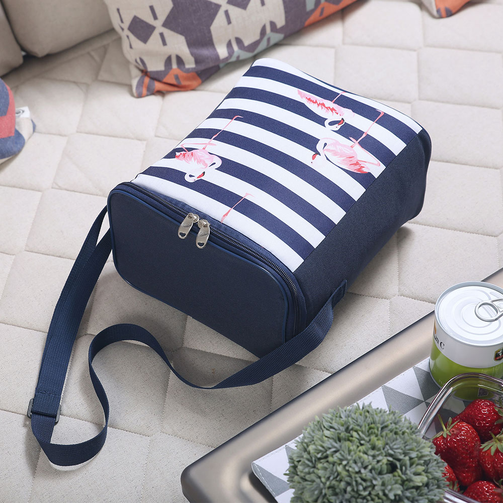 SANNE Flamingos Luxury Lunch Bag Waterproof Thermal Food Fruit Bags Insulation Cold Bales Thermal Oxford Lunch Bag Leisure Bag in Lunch Bags from Luggage Bags
