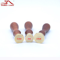 Unique Wood Handle Wax Seal Stamp Handmade Round Blank Sealing Wax Stamp For Packing Card Decoration